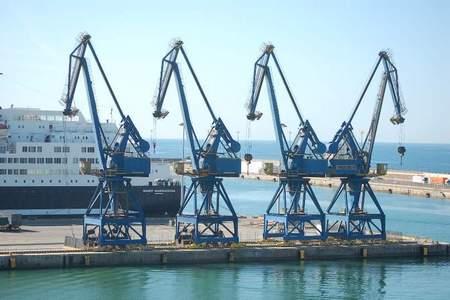ralle di rotazione gru portuali